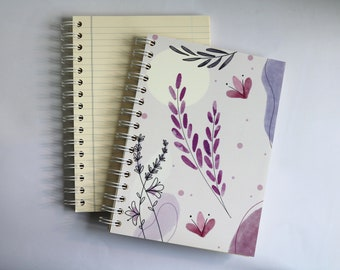 lavender SCENTED A5 NOTEBOOK, luxury aromatherapy JOURNAL, unique gift ideas