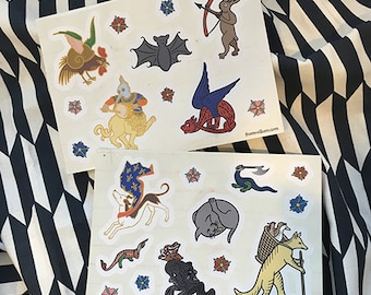 Medieval Menagerie Sticker Sheets
