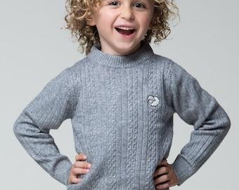 Kids Boys Girls Winter Wool Blend Jumper Multi-Colour