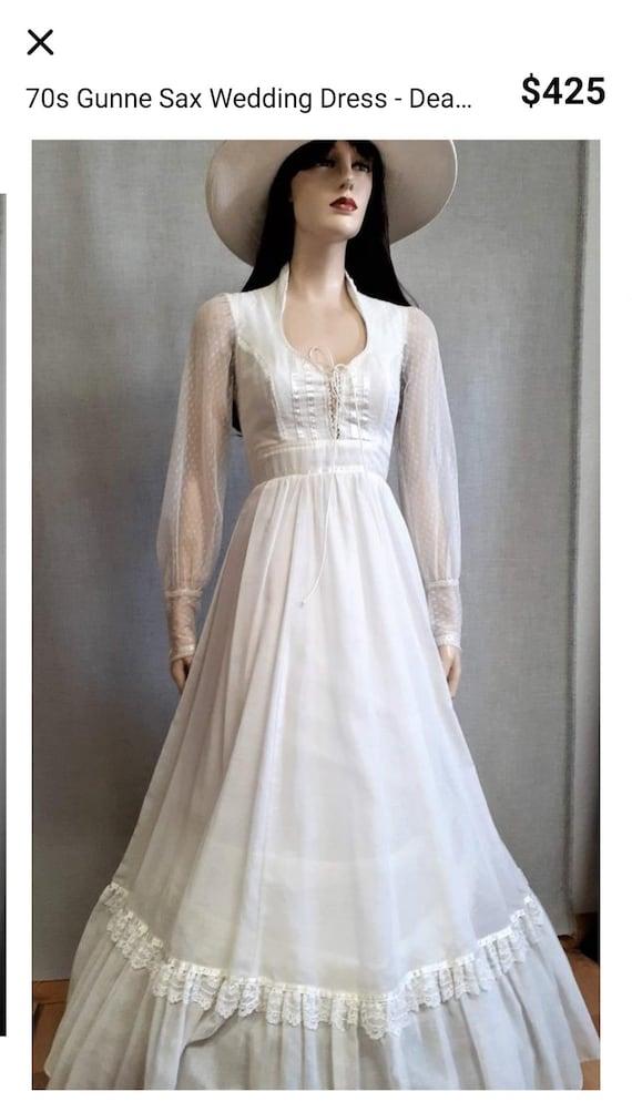 Vintage 70s gunne sax style prairie dress - image 4
