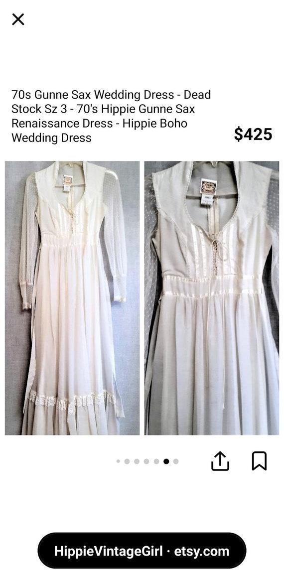 Vintage 70s gunne sax style prairie dress - image 5