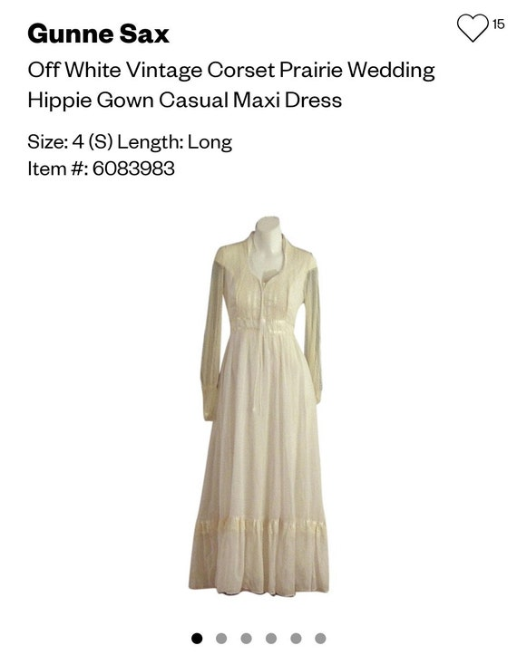 Vintage 70s gunne sax style prairie dress - image 3