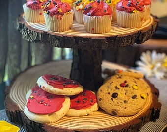 2 tier cake/cupcake stand