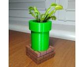 Mario Warp Pipe Flower Planter Pot