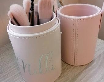 Personalised make up brush holders beauty wedding birthday travel holiday gifts