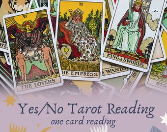 Yes/No Tarot Reading, Quick tarot reading, one question tarot, simple one card draw, tarot reader, one card tarot reading,