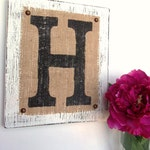 Hanging, Wooden Letters, Custom Sign, customize, rustic decor, hand painted, french, country chic paint, cottage, Letter H, Letter S, Letter