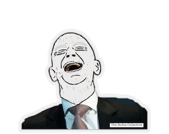 Jeff Bezos laughing with you  - stickers