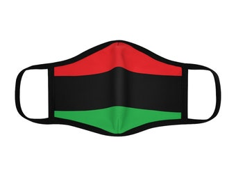Pan African Flag Polyester Face Mask, Red, Black, Green