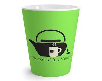 Victor's Tea Vibe Latte Mug, Matcha, 12 oz