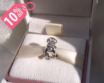 Pandora Labrador Dog Puppy Silver Charm Bead for Moments Bracelet Genuine Devoted Pet