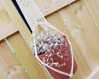 THE WILD GINGER Boho Macrame Plant Hanger with Wooden Ring Fits ~4-8 inch Pot Women's Gift Housewarming Wedding Gift Bridal Shower