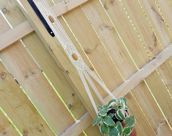 THE ANISE Boho Macrame Plant Hanger with Wooden Ring and Beads Fits ~4-8 inch Pot Women's Gift Housewarming Wedding Gift Bridal Shower