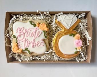 Bridal Shower Cookie Set | Wedding Favors | Bridal Shower Favors | Gift For Bride | Wedding Cookies | Custom Cookies | Future Mrs Cookies