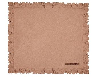 """Pinboard, cork pin board, frameless, 39 x 44 cm retro fashion look vegan 100% cork Decorative frameless cork pin board """"Rococo"""""""