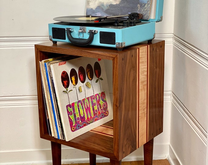 Solid Hardwood/ Side Table / End Table / Record Player Stand/ Entry Way Table