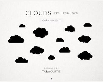 Cloud SVG, Cloud Shapes, Cloud Cut File, Cricut, Cloud Silhouette, Cloud Vector, Cloud Clipart