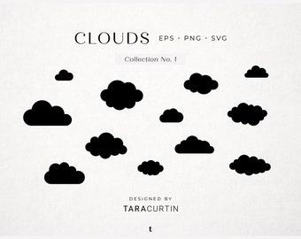 Cloud Shapes, Cloud SVG, Cloud Cut File, Cricut, Cloud Silhouette, Cloud Vector, Cloud Clipart