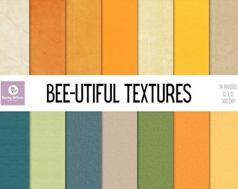 You Are BEE-UTIFUL textures digital papers and backgrounds, Scrapbook Papers, Digital Wallpaper, Printable Wall Art, Download & Print
