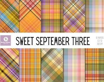 SWEET SEPTEMBER THREE digital papers and backgrounds, Scrapbook Papers, Digital Wallpaper, Printable Wall Art, Download & Print