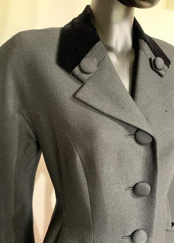 Hardy Amies black coat, 1940s