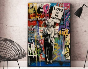 Mr.Brainwash-Everyday Life Copy Acrylic Painting on Canvas Street Art Graffiti Wall Decoration By Liudmilavoynichart