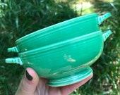 vintage Fiestaware cream soup bowls (set of 2)