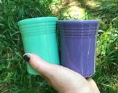 vintage Fiestaware juice tumblers (set of 2)