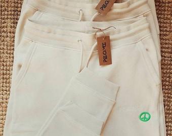 Organic Happiness Sweatpants / Jogging Pants / Jogging Pants / Jogpants / Peace / Neon / Fairfashion / unisex fit / nude / beige