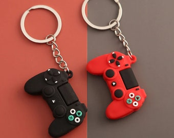PlayStation PS4 Keychain Game Controller Key Chain Gaming Keyring Gamer Gift