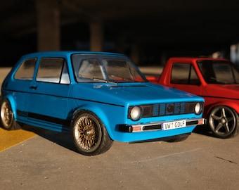 RC Lexan car body Volkswagen Golf MK1 1:10 257mm
