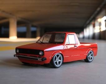 RC Lexan car body Volkswagen Caddy MK1  1:10 257mm
