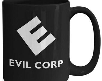 Evil corp coffee mug | black mr. robot mug | cyber security cup