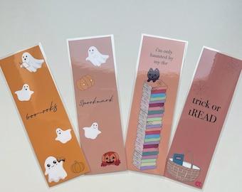 SPOOKMARKS - Halloween bookmarks - pumpkins - ghosts - 250 gsm