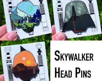 Skywalker Head Pins Set