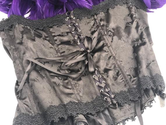 """46"""", 48"""", 50"""" Vintage Black Lace Corset - image 4"""