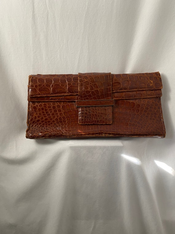 AS IS | Vintage 30s-40s authentic alligator large