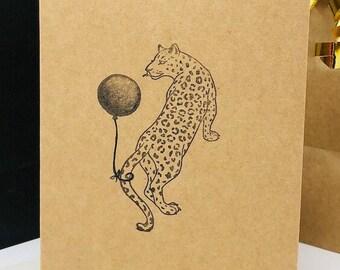 10 Jungle Cat Birthday Cards