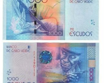 2014 Cape Verde Banknote P73 1000 Escudos UNC