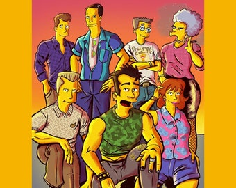 Simpsons Springfield Gay Pride A4 Gloss Prints