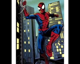 Spider-Man Marvel Disney A4 Colour Print