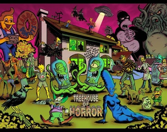 Simpsons Treehouse of Horror Full Colour A4 print