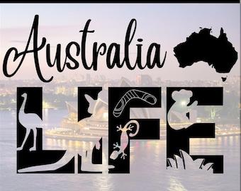 Australia Life Outback Kangaroo Dingo PNG SVG DXF Eps Jpg