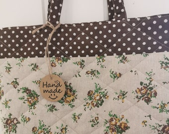 Hand made quilted tote bag