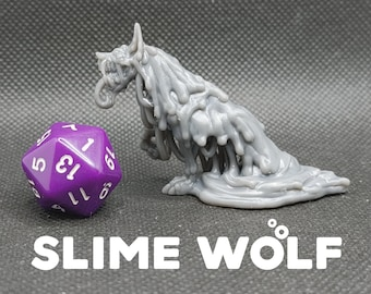 Eldritch / Slime Elemental Dire Wolf Summon - Printed Obsession - D&D Dungeons and Dragons / Pathfinder Tabletop Miniature Monster