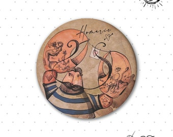 """Brooches """"Homarin"""" from the collection """"les Marinettes"""", original illustration, small series"""