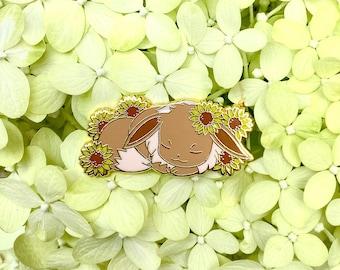 Sleepymon Eevee enamel pin