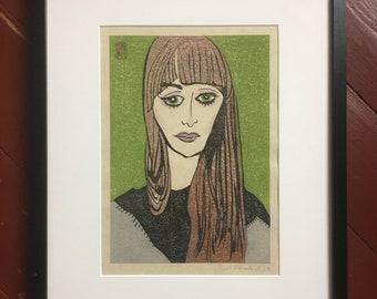 "YUKI: japanes woodblock print ""Tilla"""