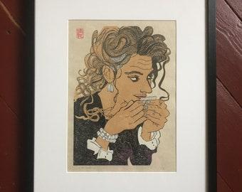 "YUKI: japanes woodblock print ""Bassano"""