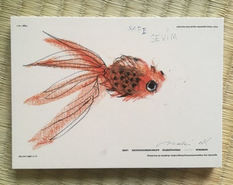 "Post Card ""Goldfish"""
